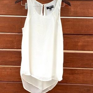 Mossimo Draped Back Sleeveless Off White Tank XXL